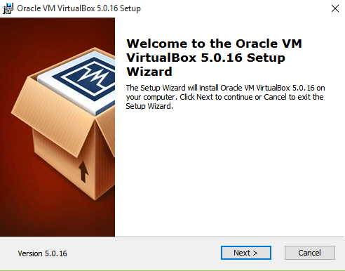 Install VirtualBox On Windows 10 - Welcome Screen