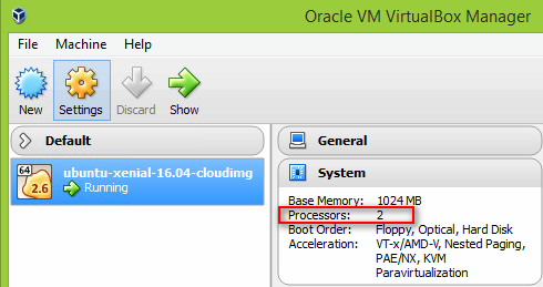 Set number of CPUs for Vagrant virtual machine