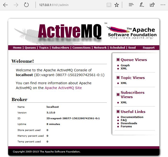 install ActiveMQ on Ubuntu 16.04 - ActiveMQ Admin Interface