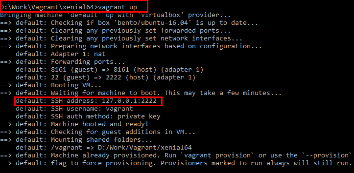 Copy files and foldes from host to guest in Vagrant - Vagrant Default IP Address and SSH Port