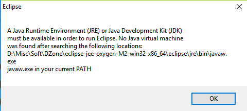 Set up Eclipse for Java 9 - javaw not found