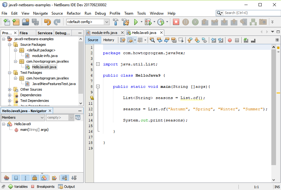 Set up NetBeans IDE for Java 9 - Java 9 Sample